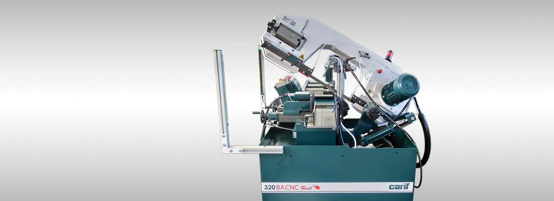 Carif Sawing Machines 320 BA CNC Touch BANDSÄGEN MIT PATENTIERTEM HYDRAULIKVORSCHUB, VOLLAUTOMATISCH