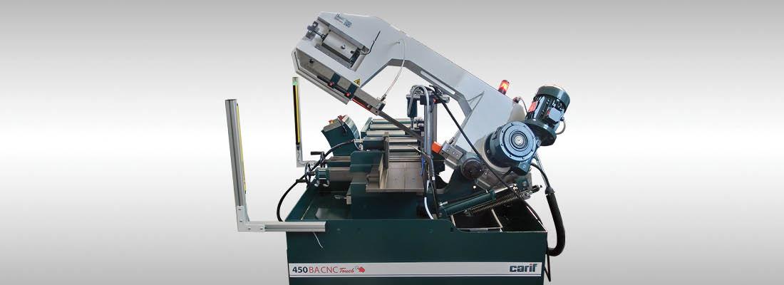 Carif Sawing Machines 450 BA CNC Touch BANDSÄGEN MIT PATENTIERTEM HYDRAULIKVORSCHUB, VOLLAUTOMATISCH